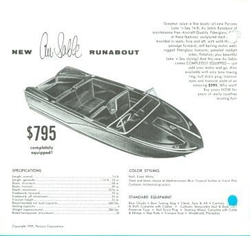 1959 Parsons 15 Au Sable Runabout