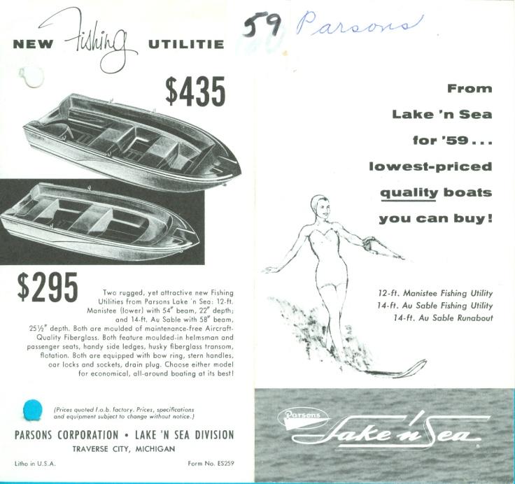 1959 Parsons 15 Au Sable Utiltie